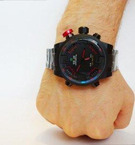 Мужские часы Weide. Два циферблата