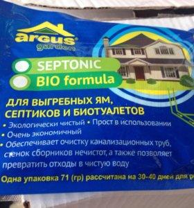 Септик для туалета, выгребных ям - 4 пакета