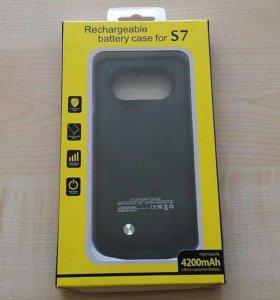 Чехол аккумулятор для Samsung (Самсунг) S7!