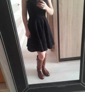 Платье черное 40-42 б.у один раз