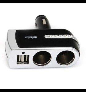 Автомобильное зарядное устройство с двумя USB