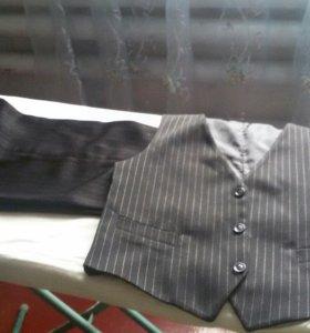 детские брюки и жилетка,школьные