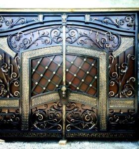 Покраска ворот на дому