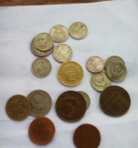 Продам старые 4 купюры и монеты СССР