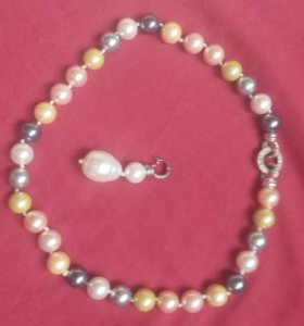 Ожерелье жемчуг сьемный кулон