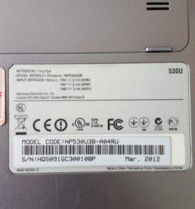 Ноутбук Samsung np530u3в