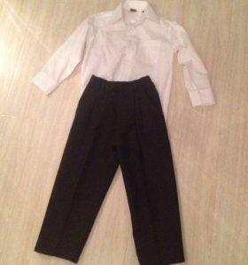Классические брюки и рубашка 104-110