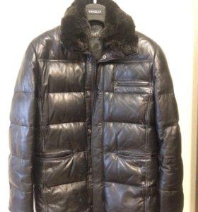 Кожаная куртка пуховик Kanzler