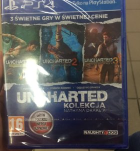 Диск PS4 трилогия Uncharted