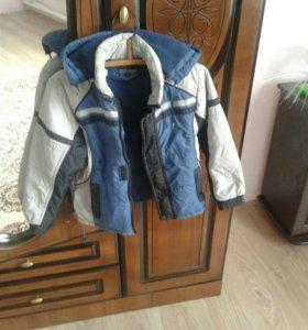 Продается детская куртка для мальчика на флисе