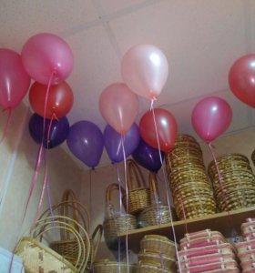 Гелиевые шарики 25см