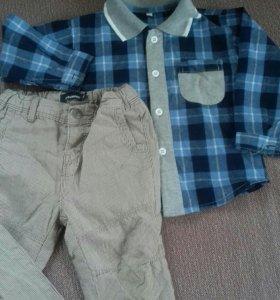 Рубашка и брюки на мальчика.