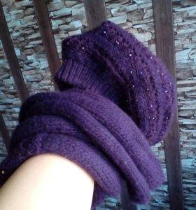 Продам вязаный комплект шапка+шарф
