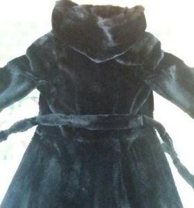 Зимняя шуба из бобра
