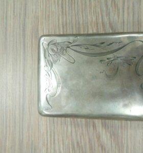 Портсигар серебро
