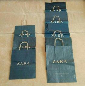 Фирменные бумажные пакеты ZARA