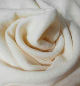 🍒🌹🍒 Ткань блузочная, цвет кремовый
