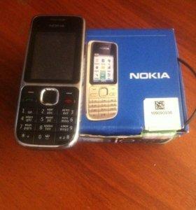 Простой телефон Нокиа С2-01 полный комплект