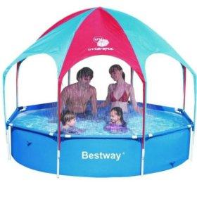 Игровой каркасный бассейн с тентом 56432