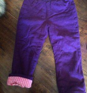 Штаны -джинсы на тоненькой флиске,р12-24мес