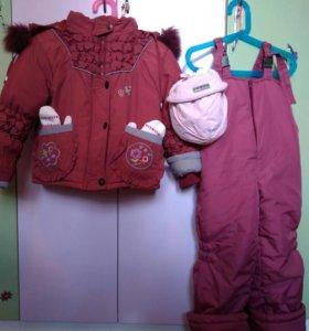 Зимняя куртка+ полукомбинезон