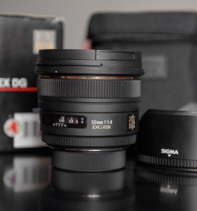 Обьектив Sigma 50 mm f/1.4 ЕX DG HSM для Nikon