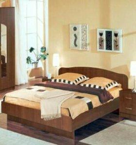 Кровать новая с матрасом.Орех Экко