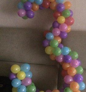 Цифры из шаров( шарики, шары воздушные)
