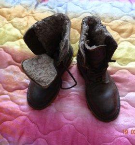 Ботинки зимние на мальчика размер 33