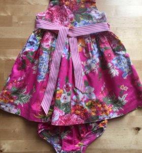Платье+трусики Ralph Lauren 6-12 мес