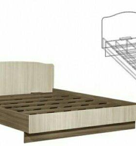 Кровать с матрасом на 160 см. Шимо Темн./Шимо Свет