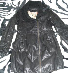 Кожанное пальто Chanel