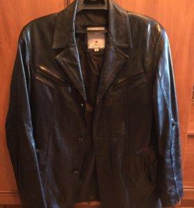 Пиджак френч кожаный