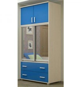 Новый шкаф -купе Мини синий