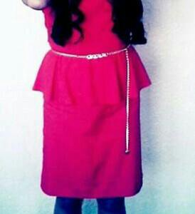 Оранжевое платье, сшитое на заказ