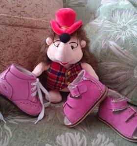 На первый шаг.Ботиночки и сандалики Для девочки.