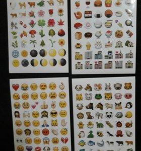 Наклейки стикеры смайлы emoji вконтакте