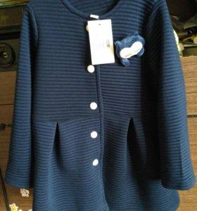 НОВОЕ пальто-кофта для девочки 4-6 лет