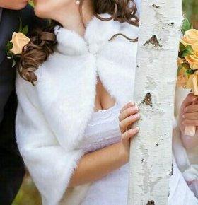 Шубка свадебная под норку