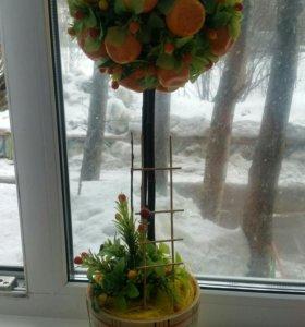 Апельсиновое топиари