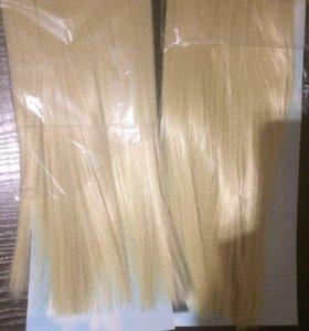 Волосы на заколках накладные пряди