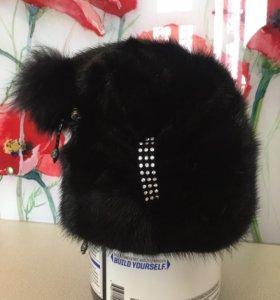 Зимняя норковая шапка новая