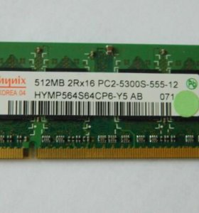 Память для ноутбука DDR2 Hynix 512MB 2Rx16