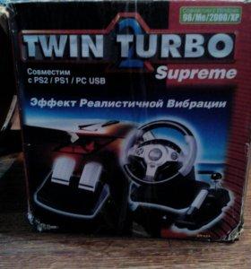 Игровой руль twin turbo 2 supreme