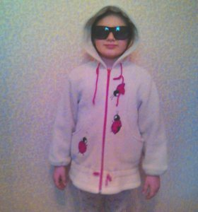 Куртка для девочки из полартека