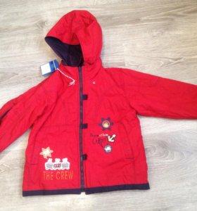 Новая куртка с утеплителем на рост 116см