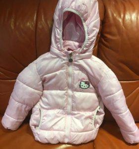 Утеплённая куртка для девочки на 3-4 года
