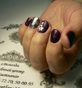 Покрытия своих ногтей гель лаком+ маникюр