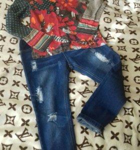 Детские джинсы и кофта Catimini новые
