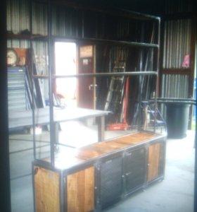 мебель из массива и металла на заказ